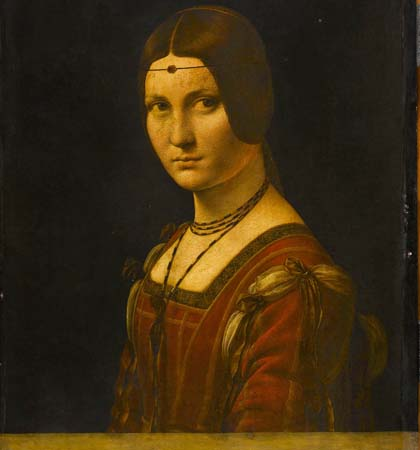 oil on wood 63 x 45 cm Musee du Louvre Paris
