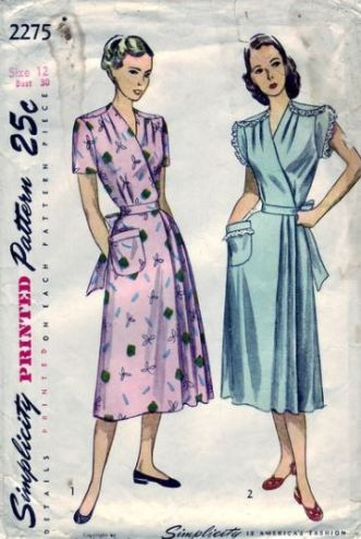 50s house dress pattern