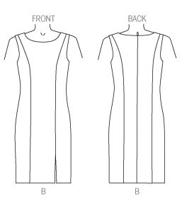 V 1435 line art dress only