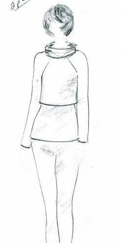 Garment deisgner twin set sketch
