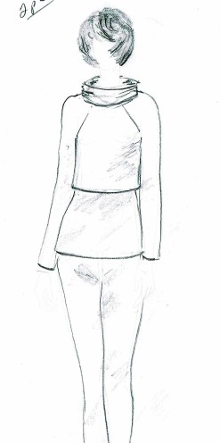 Garment deisgner twin set sketch